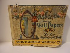 Montgomery Ward, 1925 Wallpaper Sample Book. Correct Wallpapers.