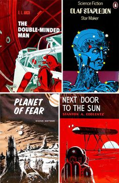 Vintage science fiction book covers