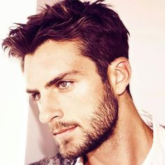 Short Sideburns + Full Beard