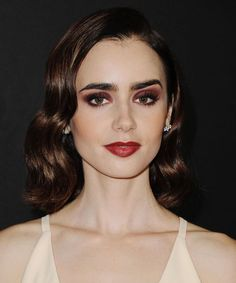 Lily Collins Long Hair Extensions, Fall Hair Trends