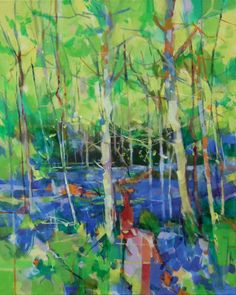 Bluebell Woods acrylic on canvas painting.  61 x 76cm ref: 014-006
