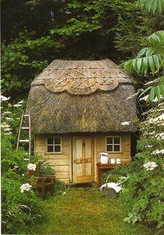 What a quaint little garden shed!