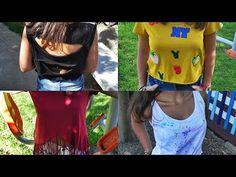 DIY: 4 ideas para reciclar y customizar camisetas básicas + LOOKBOOK - YouTube