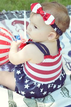 Such a cute, patriotic shot from Courtney Sweets