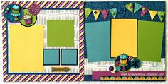 Scrap with Sue: February Club Layout Option #1 -- Confetti Wishes layouts