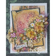 Heartfelt Creations - Blushing Yellow Gold Rose Spray Project