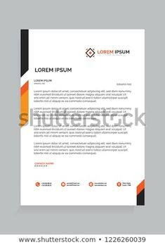 Find Letterhead Design Template stock images in HD and millions of other royalty-free stock photos, illustrations and vectors in the Shutterstock collection. Corporate Design, Corporate Stationary, Stationary Design, Corporate Identity, Letterhead Business, Letterhead Design, Letterhead Template, Header Design, Logo Design