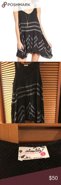 Free People Trapeze lace Inset Slip Free people black lace inset slip dress Free People Dresses