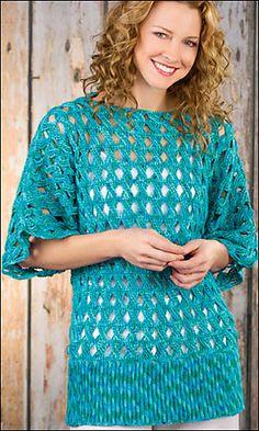Zomerbries door Shannon Mullett-Bowlsby Nog een vertaling van een mooie gehaakte, zomerse tuniek. Dit is het tweede patroon van Shannon Mullett-Bowlsby dat ik hier vertaal. Het eerste was een jasje…