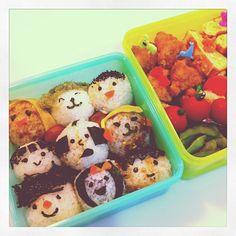 おはようございます♪( ´▽`)今日は、海水浴ー!お弁当、作りました。#お弁当 - @akiosato | Webstagram