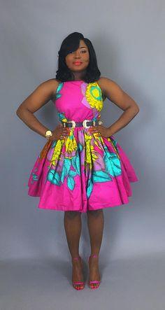 2020 Hot Ankara Styles to Flex - Vincisjournal Short African Dresses, Latest African Fashion Dresses, African Print Dresses, Short Dresses, African Inspired Fashion, African Print Fashion, African Attire, African Wear, African Print Clothing