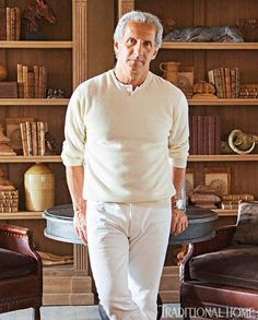 At Home with Fashion Designer Joseph Abboud - Traditional Home® / Photo: Eric Roth