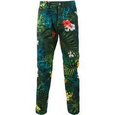 G-Star floral print trousers (€110) ❤ liked on Polyvore featuring men's fashion, men's clothing, men's pants, men's casual pants, multicolor, mens floral pants, mens floral print pants and colorful mens pants