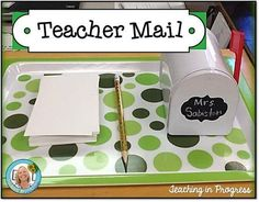 """Love this idea of using a mailbox to collect """"notes"""" from parents from the kids each morning."""