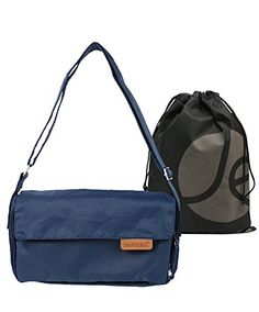 JAVOedge Fabric Blue AntiTheft Cross Body Travel Messenger Bag with  Adjustable Strap and Bonus Reusable Storage Bag -- Check out this great  product. f5287c4ee1289