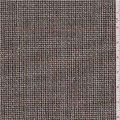 """Charcoal Grey, Brown, Black, Blue, Sterling & CreamPlaid Lightweight Woven Suiting FabricSuitable for Dresses, Slacks & Suits65% Wool35% Polyester60"""" wideHand Wash Cold or Dry CleanUsually $12.00/yd"""