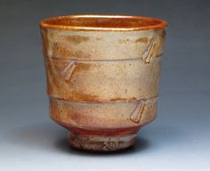 Jeff Oestreich Stoneware Yunomi, Student of Warren MacKenzie, Apprentice at the Leach Pottery 1969-71, Collectible Pottery