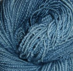 Indigo Handspun Yarn  Naturally Dyed by materialconcerns on Etsy, $26.00