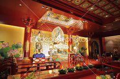 Интерьер храма Зуба Будды — Стоковое фото © leungchopan #9701520