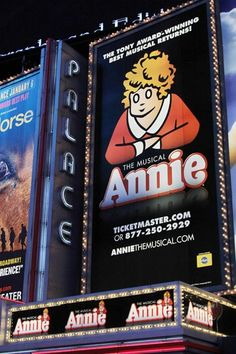 ANNIE on Broadway, just saw this with my mom and it brought me back to my childhood.