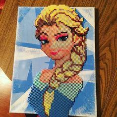 Elsa - Frozen perler beads by  neonduckie