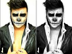 DIY Death Skull Makeup Tutorial , Absolutely amazing Halloween makeup! http//www