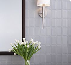 this tile looks very elegant to me and it reminds me of France, it looks very clean and chic. i would use this tile for bigger space