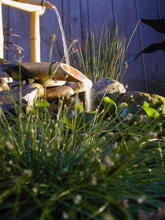 Wasserspiele im Garten – ein Brunnen aus Bambus selber bauen