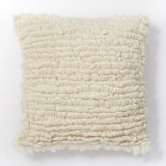 Wool Looped Pillow Cover - Ivory #westelm