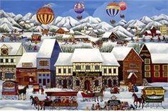 "Carol Dyer Handsigned and Numbered Limited Edition Giclee on Canvas:""Rocky Mountain Lodge """