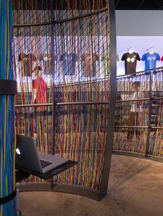 Large Technology Company Retail Store  Inside the cocoon, an interactive digital recording booth encourages visitors to share memories and m...