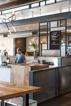 Shops and More - Melbourne - Top Paddock bar, restaurant Bar Restaurant, Restaurant Design, Commercial Design, Commercial Interiors, Burger Bar, Cafe Interior, Interior Design, Deco Cafe, Teintes Pastel