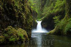Punch Bowl Waterfall, Eagle Creek, Columbia River Gorge National Scenic Area, Oregon, USA