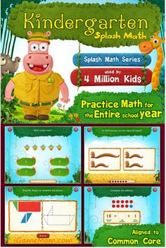 CCSS Math Practice for Kindergarten Kids - Splash Math Kindergarten Educational Math Games, Math Activities, Math For Kids, Fun Math, Learning Apps, Kids Learning, Kindergarten Math, Elementary Math, Math Practices