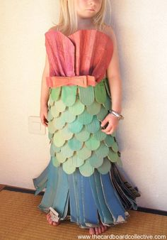 Little girl's mermaid-costume from The Cardboard Collective