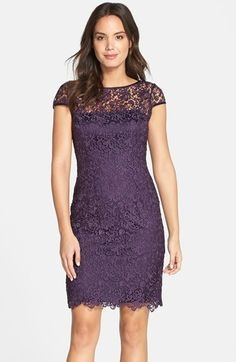 The perfect evening business party dress! Adrianna Papell Lace Shift Dress available at #Nordstrom