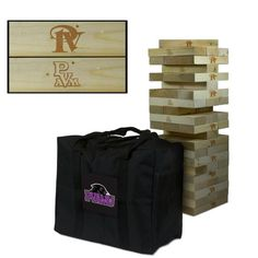 Show off your team spirit with this GIANT wooden tumble tower game! Blocks are laser engraved with the team logo(s) as shown in the product image. Our most popular and Largest Tumbling Tower, includes