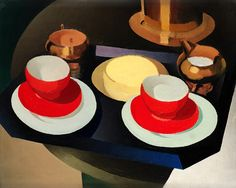 TORSTEN JOVINGE, Still Life with red Cups