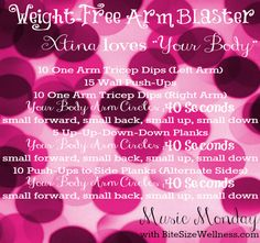 Music Monday: Weight-Free Arm Blaster with Xtina