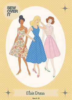 "Schnittmuster: Sew Over it: ""The Elsie Dress"" - Elsbeth und Ich Sew Over It Patterns, Dress Making Patterns, Liberty Of London Fabric, Liberty Fabric, Sewing Projects For Beginners, Sewing Tutorials, Sewing Hacks, Sewing Tips, Elsbeth Und Ich"