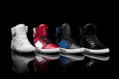 The Skytop is one of the most popular high tops in the men's category and kids have had a similar response to these striking styles. They are built on a classic vulcanized sole with a padded mesh collar and tongue for superior ankle support and comfort.