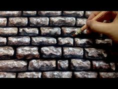 Painting of Stone Wall with acrylic paint. - YouTube