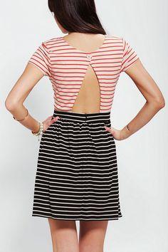 Stussy Cutout-Back Stripe Dress #urbanoutfitters