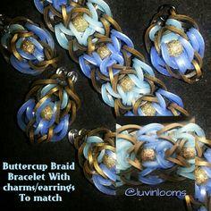 Buttercup Braid Bracelet By @luvinlooms original design instagram.com
