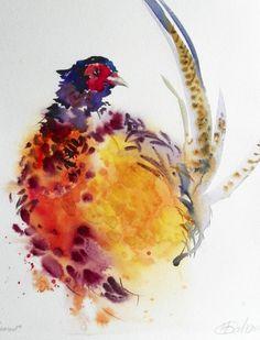 Watercolour pheasant
