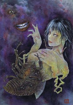 Another Demon — javiptrsn: - 'Saint Lucy', ceramics (with. Dominique Jackson, Junji Ito, Art Inspo, Art Reference, Whale, Cool Art, Creatures, Painting, Artists