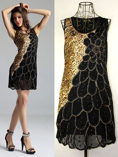 New Arrive Fasion Lady Women's Leopard Peacock Pattern Dress, Summer Wear Sleeveless Evening Clubwear Dress Free Shipping $15.99