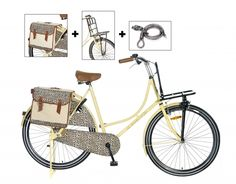 Omafiets Luipaard Bruin Tas & Rek 28 Inch | bestel gemakkelijk online op Fietsen-verkoop.nl