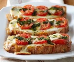 Fast Fix Caprese Pizza Toast (luv this recipe!)