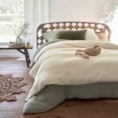 chambre bohème lit corde housse couette dépareillé gaze coton Style Deco, Slow Living, Comforters, Blanket, Bed, Furniture, Home Decor, Crib Bedding, Bedding
